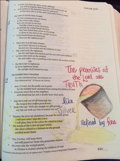 Psalm 12:5-6 Bible Journaling