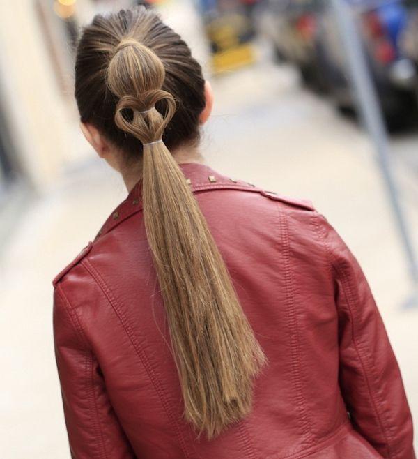 Причёски из хвостиков
