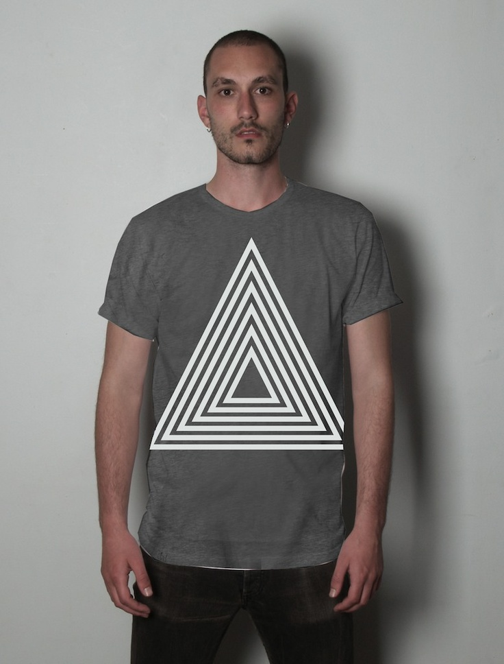 T Shirt Design Ideas Pinterest this minimalist t shirt Triangle T Shirt Design Idea