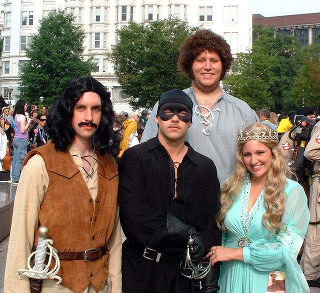 I have so damn many ideas for great group costumes, but no one adventurous enough to go for it with me. Dammit!