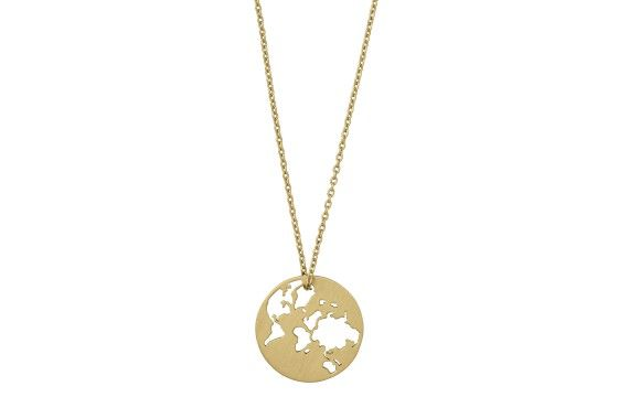Beautiful World necklace - gold