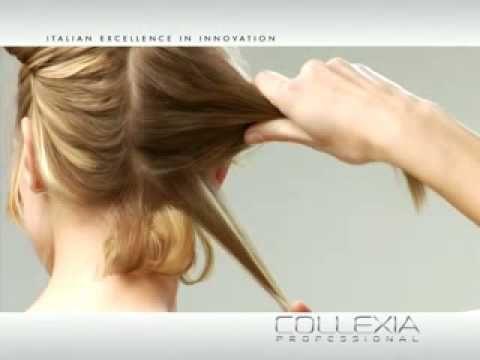 Modelo de peinado con efecto de movimiento.