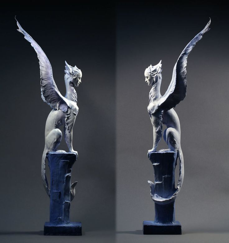 "Winter Sphinx, by Forest Rogers, 24"" tall"