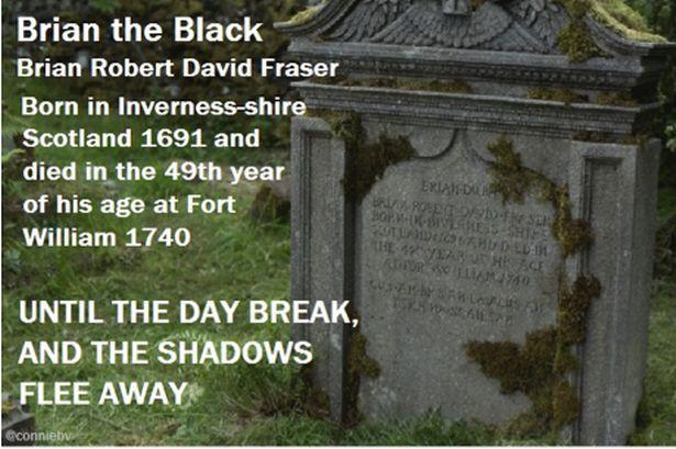 Brian Fraser's gravestone.