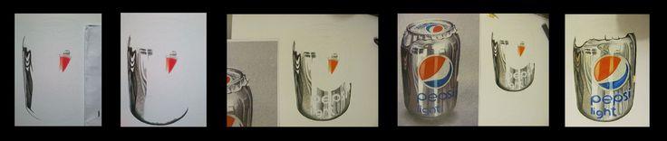 começando uma nova pintura com lápis de cor... uma releitura minha do artista Marcello Barenghi....