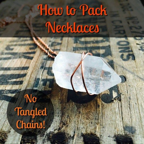 The 25 best packing necklaces ideas on pinterest cheap for How to pack jewelry for moving
