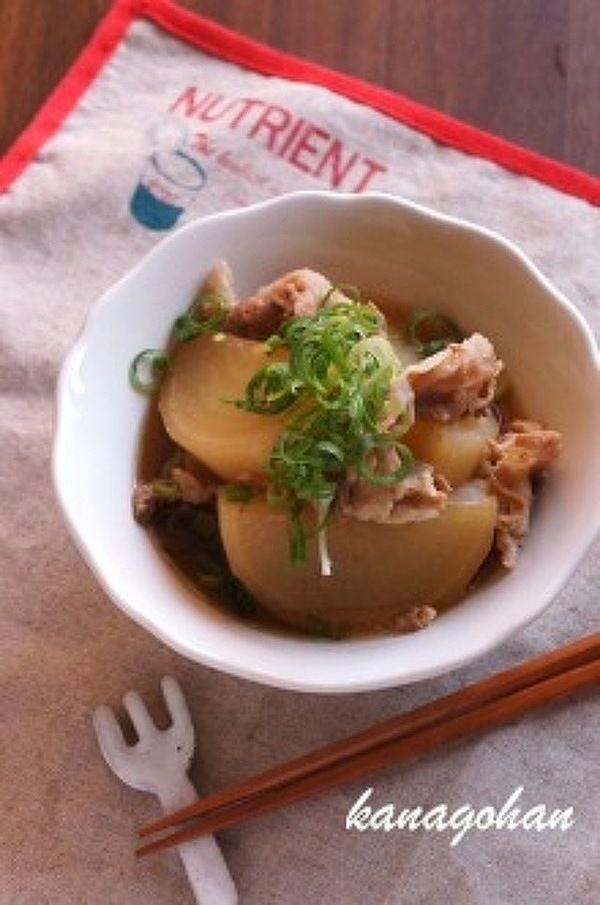 【273kcal】豚と大根のこっくり煮