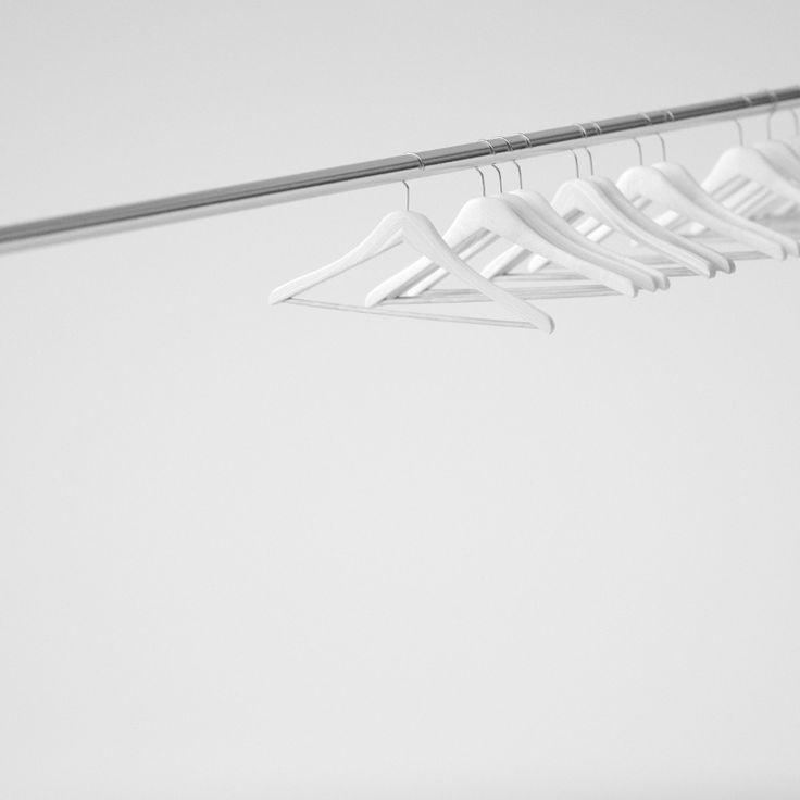 White hangers. #c4d #render #cinema4d #bw #blackandwhite #minimal #white #digitalart #art #edlefler #dailyrender #everyday #hanger