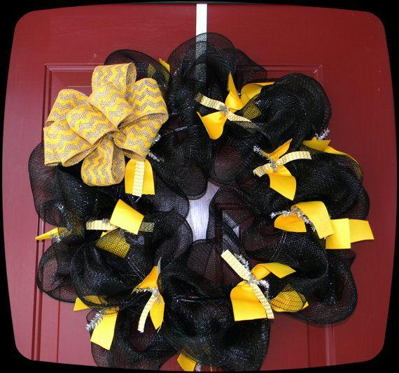 WSU Inspired Wreath GO SHOCKERS Wichita State All the by lilly143, $40.00... Go Wichita State!!!