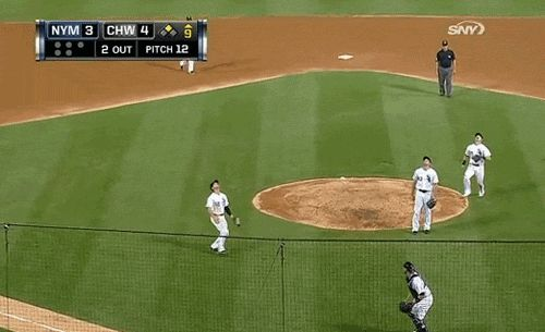 Gordon Beckham summed up the White Sox season in one play. | The 89 Funniest Sports GIFs Of 2013