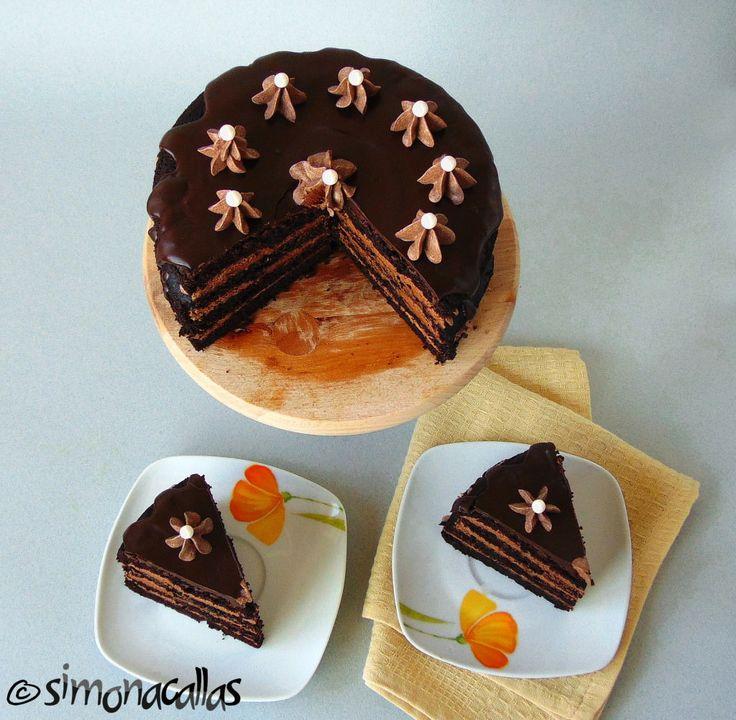 Tort de post cu ciocolata 3