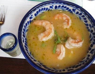 Image detail for -sopa de chileatole al lima y tequila con camarones a