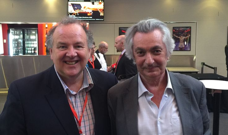 Victor Perton and Robert Manne at the Global Integrity Summit 2016