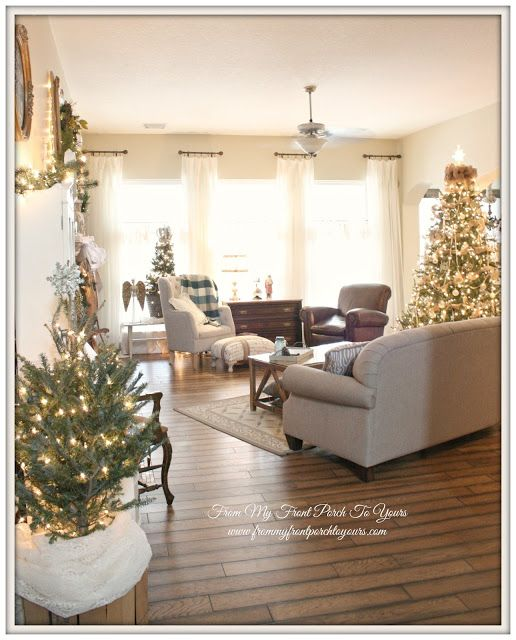 From My Front Porch To Yours- Christmas Living Room