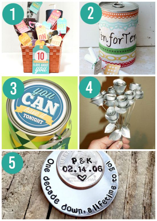 Traditional Tin Anniversary Gift Ideas