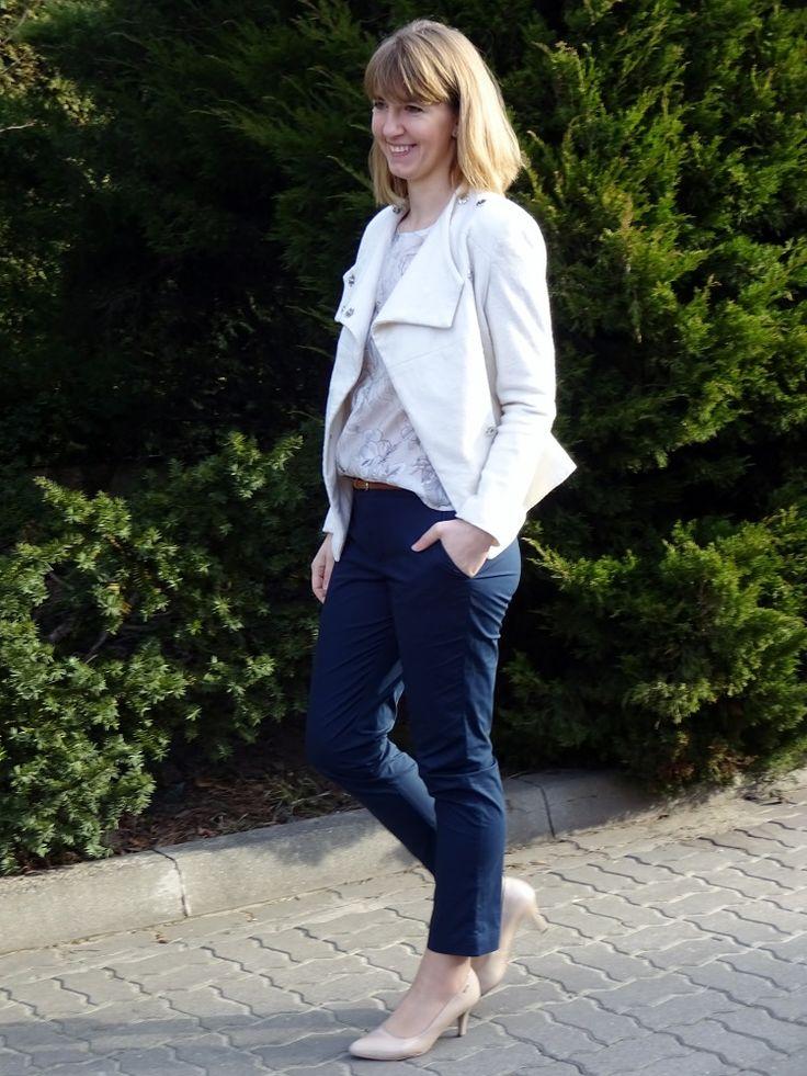 Spodnie (Burda 11/2012 model 107 A), bluzka, kurtka (Burda 1/2015 model 104 A); trousers, top and wool jacket