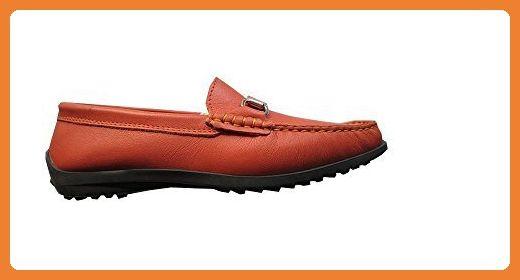 Mokassin aus Nappaleder von Patrizia Dini - Orange Gr. 36 - Slipper und mokassins für frauen (*Partner-Link)