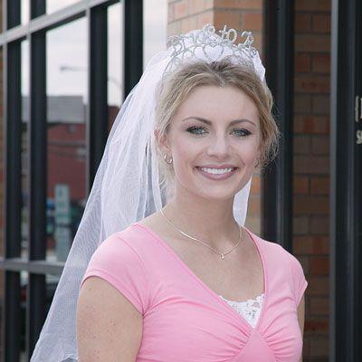 Bride To Be Tiara With Veil Princess Bachelorette PartyBachelorette Party SuppliesBride