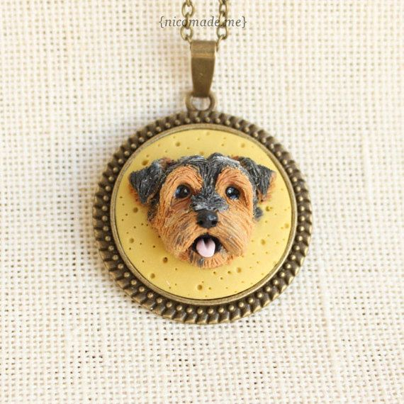 Custom dog portrait - personalized pet portrait -  dog sculpture - polymer clay dog - polymer clay pet - dog jewelry - pet jewelry - 3D dog - from picture to 3D portrait - poymer clay yorkshire - yorkshire necklace - yorkshire sculpture - yorkshire jewelry - custom yorkie portrait{ by NicomadeMe on Etsy }