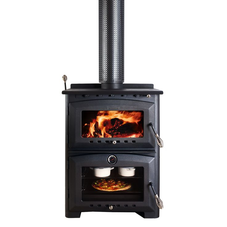 Scandia 200sqm Heat and Cook Indoor Wood Heater With Stove