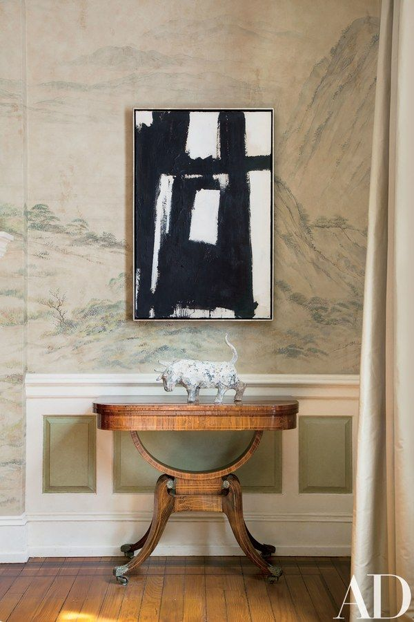A Classic Kline Abstraction Makes Strong Statement Paired With Regency Table And Han