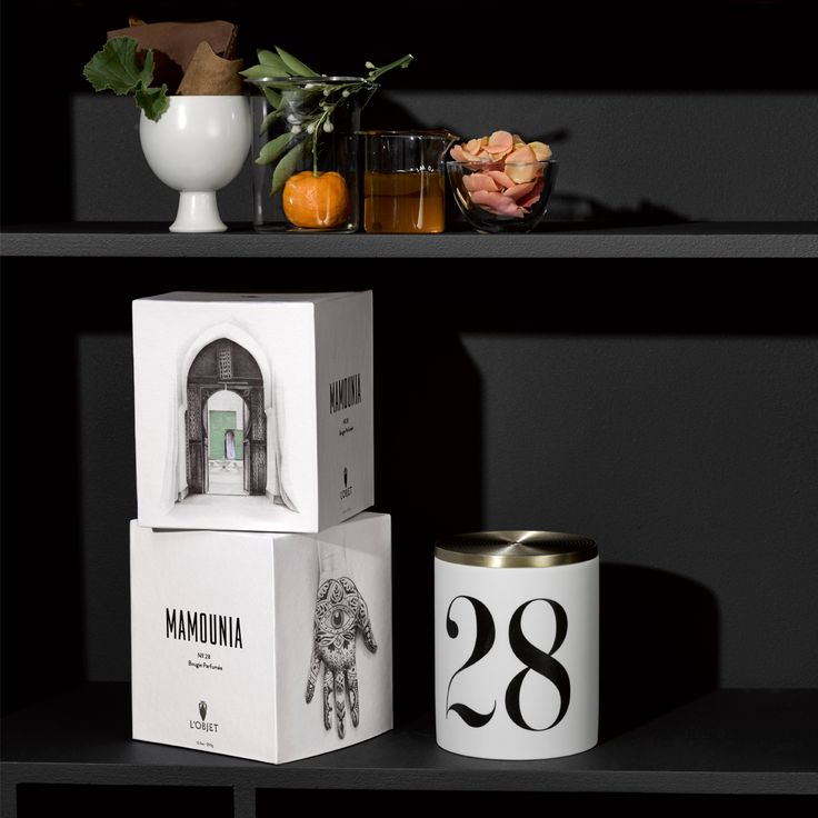 Each scent has a story. Mamouina Candle No. 28