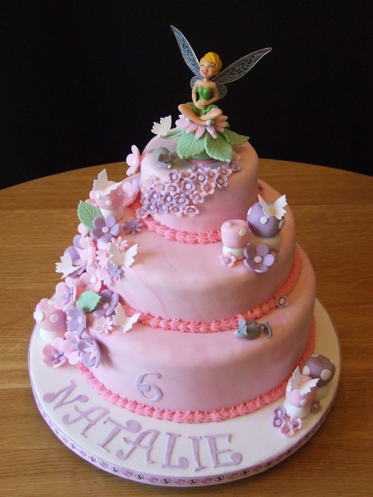 Brilliant Tinkerbell Birthday Cake 2 Birthday Cake Flower Ideen Personalised Birthday Cards Cominlily Jamesorg
