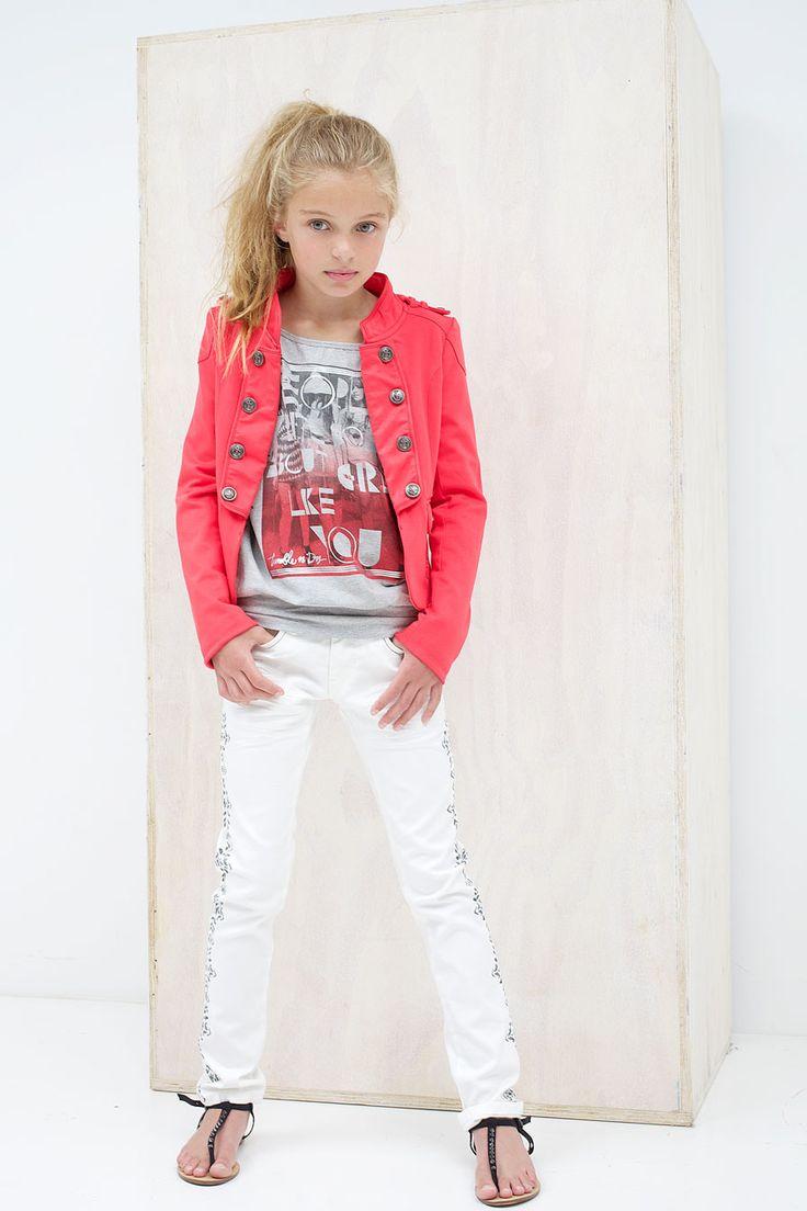 Kinderkleding Tumble N Dry Zomer 2014 | Trendy en mooi rood blazer jasje | www.kienk.nl