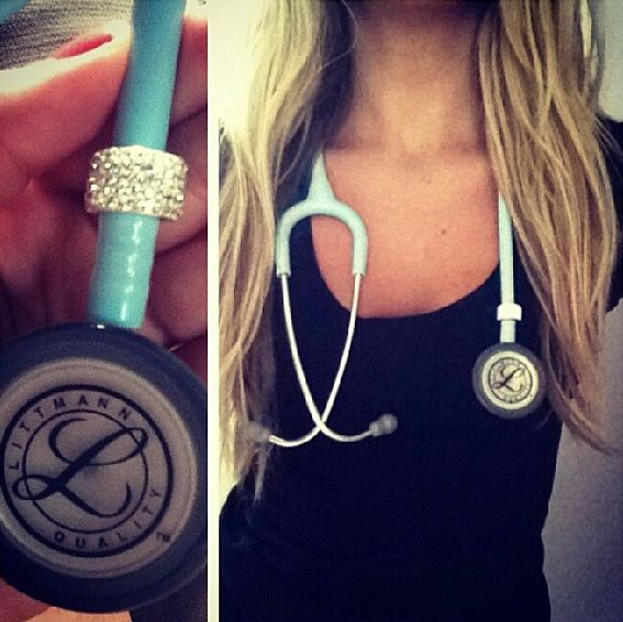 beautiful stethoscope! I want this one! This brand!! Only light Lavender, or mint green. Mine suck. This it the perfect brand.