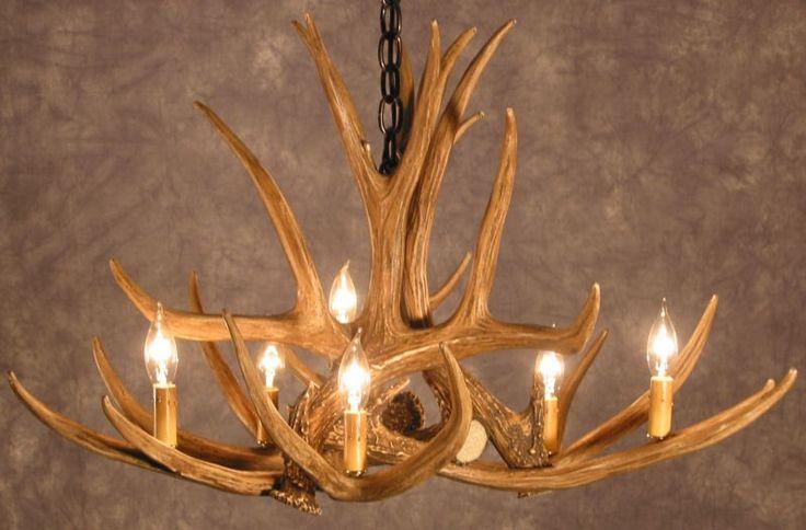 deer antler chandelier on pinterest antler chandelier antler lights. Black Bedroom Furniture Sets. Home Design Ideas