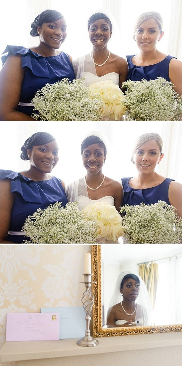 baby breath bouquets, navy wedding, image by Daffodil Waves Photography