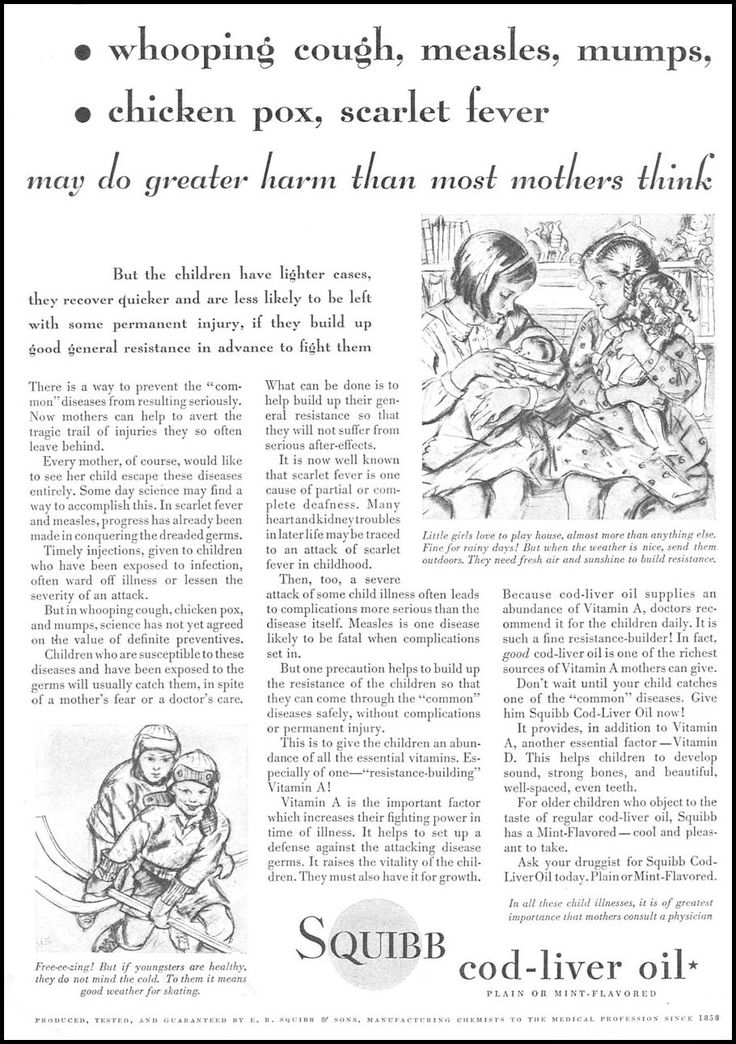 1932 advertisement for cod liver oil