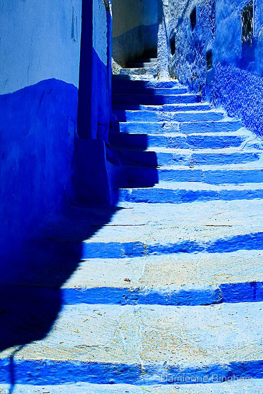 The Blue City VII by by Damienne Bingham in Morocco