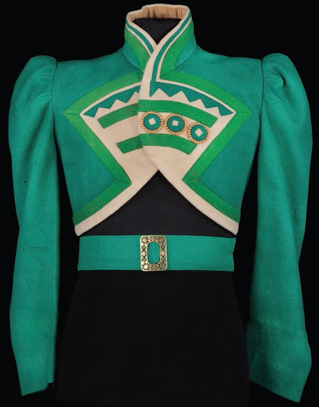 "Emerald-green felt ""Ozmite"" jacket designed by Adrian from The Wizard of Oz."