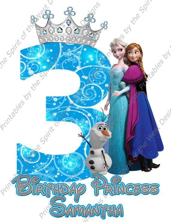 Third Birthday Girl Frozen Shirt Iron On Disney T Shirt Transfer