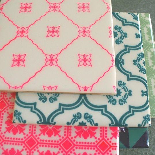 FILIA, mønster NEON pink - SOLO KERAMISKE FLISER - KERAMISKE FLISER - Shop
