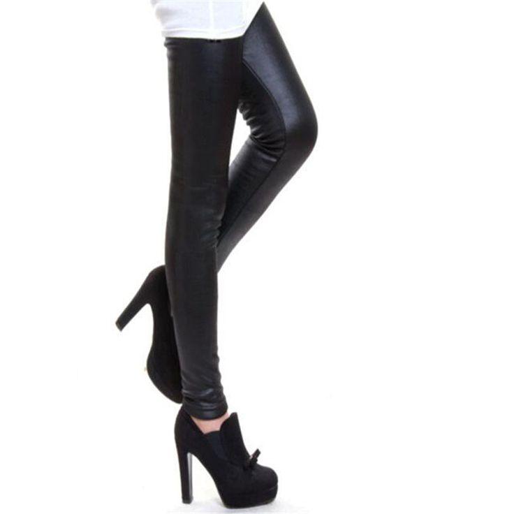 新しい2016肥厚黒革ブーツレギンススキニーパンツ冬暖かい女性のズボン冬パンツ用女性高品質