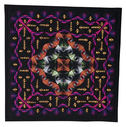 """Dusk a L'Orange"", by George Siciliano, Lebanon, PA, USA. AQS Paducah, 2010. Second place in the 'Miniature Quilts' category."