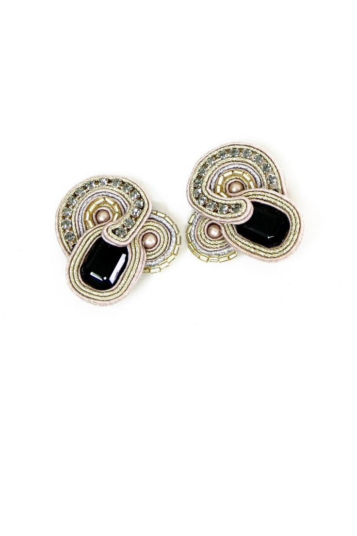 best fimo nausnice images on pinterest soutache jewelry bead