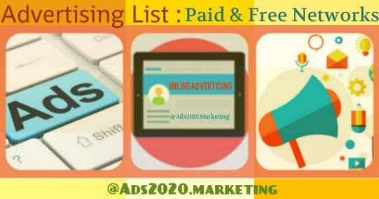 Online Advertising List- Paid & Free Local Web Sites & Ad Netowrks #Paid #advertising