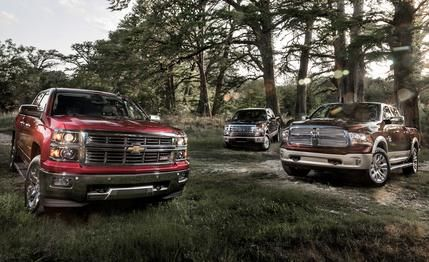 The 2014 Chevrolet Silverado 1500 LTZ Z71 topped Ford and Ram in Car and Driver's comparison test!