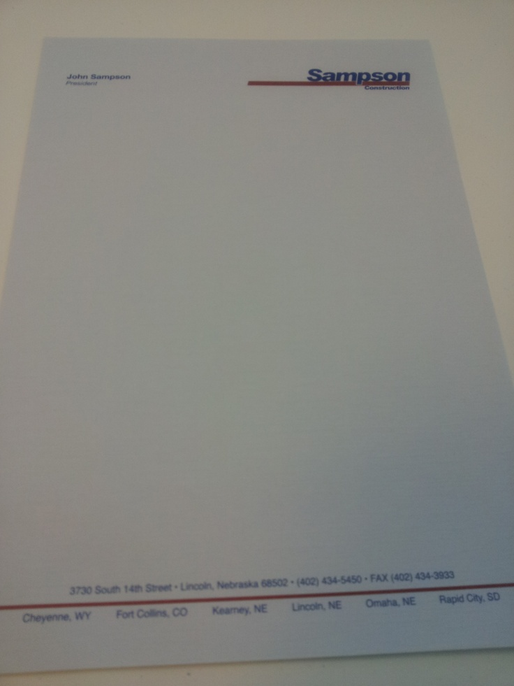 letter format on letterhead%0A Make sure you have a letter head showing your businesses name