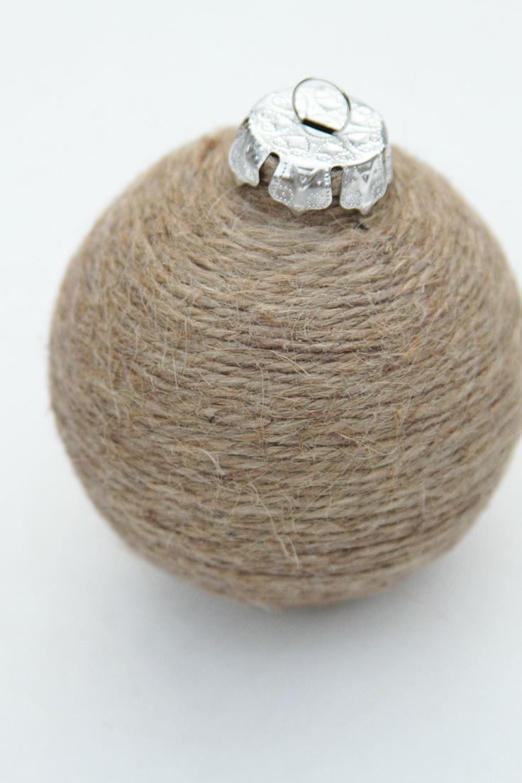 Christmas Ornament, Jute Twine, Shabby Chic, Nautral, Bowl Fillers. $12,00, via Etsy.