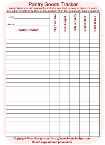 food inventory list - shefftunes.tk