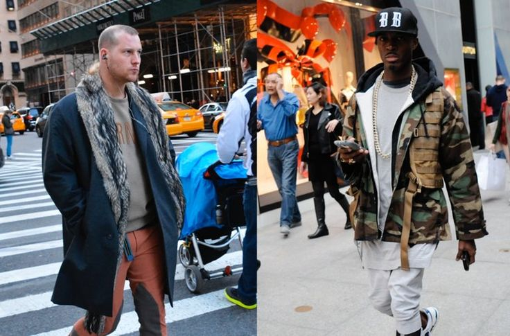 Young men are pushing the style envelope with felt hats, winged sneakers and fur-collared coats. Bill Cunningham