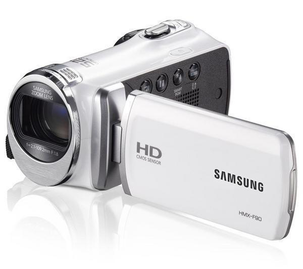 SAMSUNG - Videocamera HMX-F90 - bianco + Scheda di memoria SDHC Premium Series - 16 GB Classe 10 (LSD16GBBEU200)