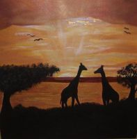 Africa sunset by Oneelove