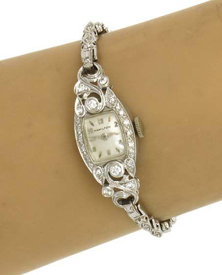 vintage ladies watches for sale | Vintage 14k Gold Diamonds Hamilton Ladies Dress Watch | eBay