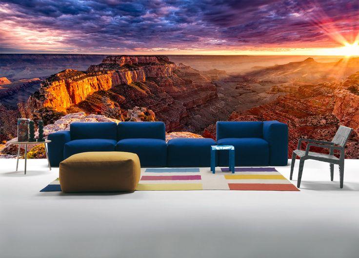 Fotomural El Gran Cañón, Con sus capas sedimentadas de múltiples colores, es verdaderamente una de las grandes maravillas naturales del mundo. a tan solo $69.000 el metro cuadrado.