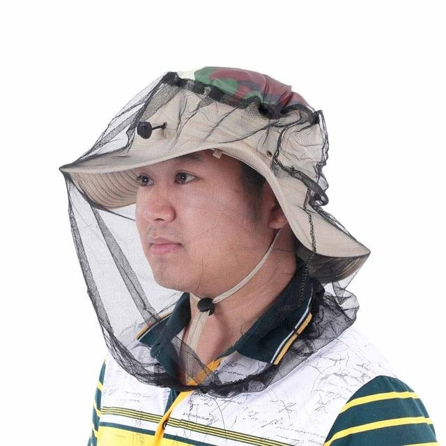 9bbed54e04d0e Outdoor Anti-Mosquito Bees Fly Boonie Hat Face Protection Mosquito Net Mesh  Beekeeping Face Mask For Fishing Camping Hiking Review
